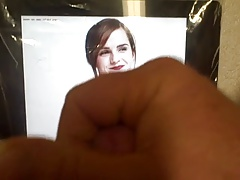Cum Tribute to Emma Watson Pale Full Breasts