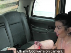 Busty amateur blonde whore gets nailed in the backseat