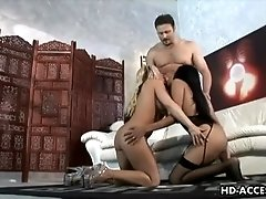Threesome hot sex Davia Ardell andHavana Ginger