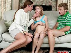 Milf busted teens fucking on the couch