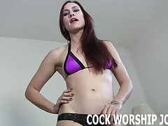 Worship his big black cock like you mean it