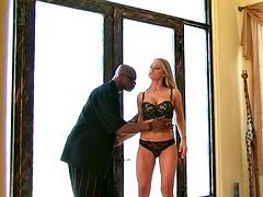 blonde milf takes black dick in her anus