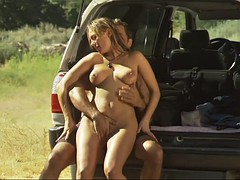 beautiful babe called venus getting banged in the back of the truck