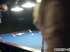 Cutie amateur Czech girl Mikayla nailed in billiards alley