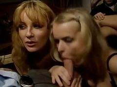 Vintage movie filled with curvaceous babes enjoying group sex action