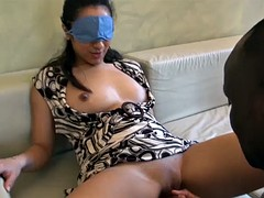 Amateur Arab girl enjoying in her first black monster