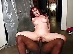Freckled fuck slut takes BBC in her pink pussy