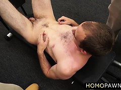 Horny dude nailed muscle guy