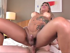 seductive tranny polly a gets her dick sucked and ass fucked