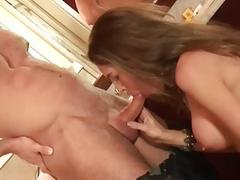 Buxom tranny takes a monster cock up her bubble butt