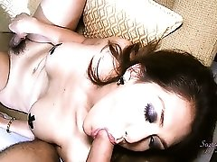 Hot Asian Shemale Makes Herself Cum While Sucking A Cock