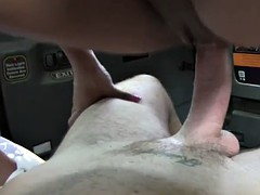 Taxi brit ebony escort booty bounce on the cock