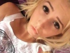 Hot blond self shot masturbation