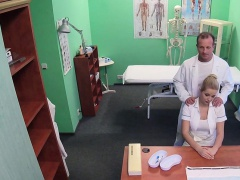 Doctor fucks tattooed busty patient
