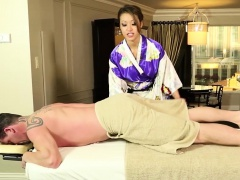 Asian masseuse cumshot