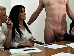 Femdom cfnm office slut fucking cock
