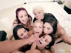 Sexy girls are having an Orgy wright now by the Pool