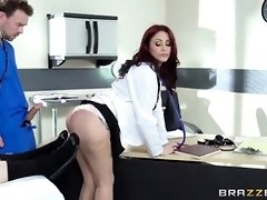 Crimson haired girl was doing highly mischievous things in the clinic, instead of doing her job