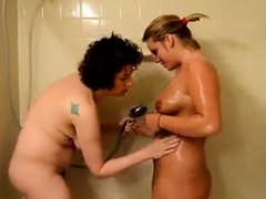 Ugly Chicks Taking A Shower Together
