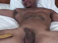 Muscular hunk Jose is tied to the bed and tickled hard