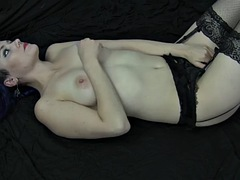 lady inara stockings-masturbation