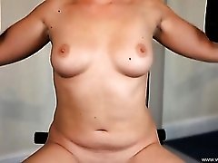 Naked workout with a dose of dirty talk