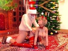 Winter Holidays futanari animation with Santa