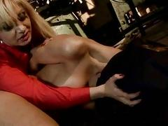Mistress punishing beautiful Cindy Hope in the sex dungeon BDSM
