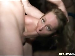 Party girls get fucked at a wild orgy