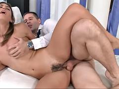 raunchy spanish sexpot julia roca takes it up her fuzzy coochie