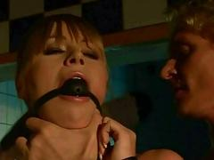 Sexy bondage slave fucked rough by horny master BDSM porn