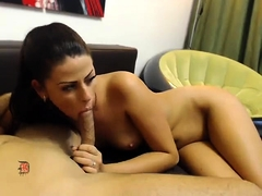 Gorgeous Latina with a perky ass gets fucked and facialized