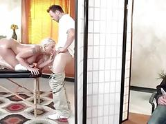 Cuckold sex in massage saloon