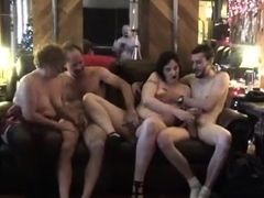 Exciting mature swingers get together for a wild sex party
