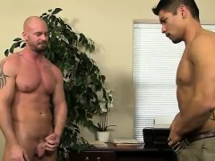 Young black gay sex movie first time Pervy manager Mitch Vau
