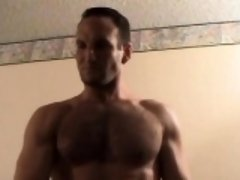 Muscular Straight Boy Brock Beats Off