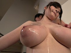 exquisite threesome for busty asian