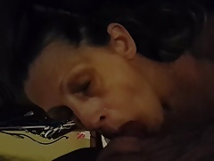 wife likes sucking my cock even though I have a lot of pre-c
