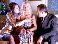 Swingng Couple Fondle Superb Long-Legged Blonde Model