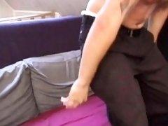 Tattooed skater punk masturbating before cum