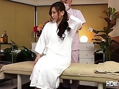 Horny babe Ai gets fuck while having massage