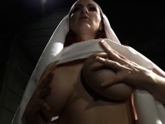 Femdom smothers subsissive with her pussy