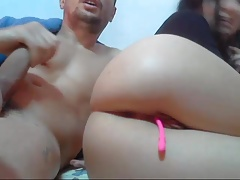 Cums in her ass