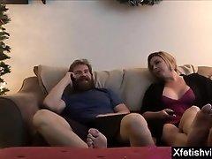 Big tits milf foot fetish with cumshot