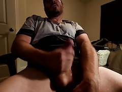 Str8 daddy stroke & cum like a crazy