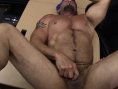 Tough guy sucks big cock and get anal fucked