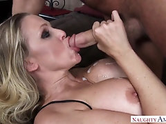 Julia Ann got banged highly rock hard when she faced up with Chad, because he got highly nasty
