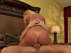 ultimate blonde milf deepthroats before the anal fucking