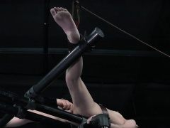 Restrained sub slave mercilessly canned
