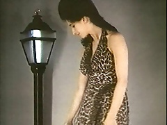 LEOPARDSKIN STRIPTEASE - vintage nylons big boobs stockings